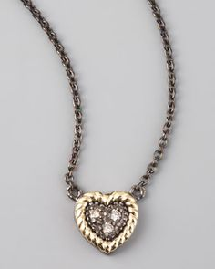 JudeFrances Jewelry Heart Pendant Necklace