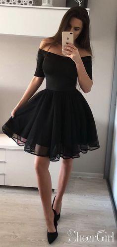 Simple Hoco Dresses,Black Homecoming Dresses, Little Black Homecoming Dresses,Short prom dress,Cheap Long Sleeve Homecoming Dresses, Hoco Dresses, Trendy Dresses, Sexy Dresses, Dress Outfits, Dress Prom, Dress Long, Bridesmaid Dresses, Black Prom Dresses
