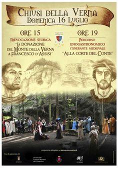 """Italia Medievale: Rievocazione Storica """"La Donazione del monte della Verna a Francesco d'Assisi"""""""