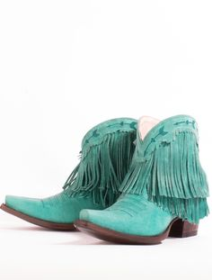 the spitfire fringe boot - turquoise - Junk GYpSy co.