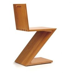 ZIG-ZAG CHAIR by GERRIT T. RIETVELD (1934)