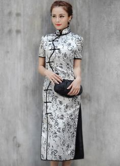 Ankle-length Cheongsam / Qipao / Chinese Dress