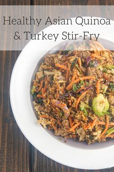 This Asian Quinoa Stir-Fry has the perfect blend of spices and is an excellent dinner option for everyone in the family.