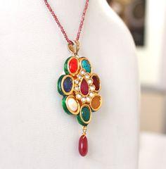 60% off multi stone quartz stone pendant beautiful by colorvilla