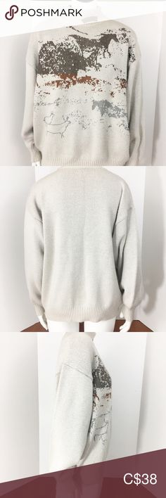 """Vintage Sweater Large High Neck Beige Unisex Wool Made by the company Heinzelmann in Germany in the 1970-1980s. Size is GR 42 which is equivalent to a US 10. However, I would consider this to be a large - XL for women and a medium-large for men. It is a stretchy knit material so there is room to the dimensions listed. Materials: 45% Lambs Wool and Polyacryl, Nylon and Viscose. Patch along the collar says """"Zealand""""  Very small 3mm stain on back of left sleeve. May be able to be removed. Not… Unisex, Plus Fashion, Fashion Tips, Fashion Trends, Vintage Sweaters, Your Style, Bell Sleeve Top, Germany, Sweaters For Women"""