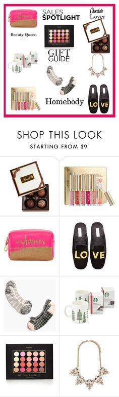 """""""Sales Spotlight Gift Guide"""" by lanaebond ❤ liked on Polyvore featuring Lindt, Mixit, Patricia Green, Madewell and Forever 21"""