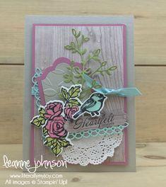 Heartfelt Thoughts | Stampin\' Up! | Heartfelt Blooms | Petal Palette #literallymyjoy #bird #roses #sympathy #heartfeltthoughts #SweetSugarplum #WoodTexturesDSP #2018OccasionsCatalog #2018SaleABrationCatalog #20172018AnnualCatalog