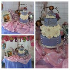 Sophia the first themed birthday party table cake and treats Like me on FAcebook and share my page! https://www.facebook.com/pages/RED-Really-Enticing-Desserts/112066908806518?bookmark_t=page
