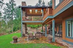 Two Level Covered Deck - rustic - deck - seattle - by Mastercraft NW