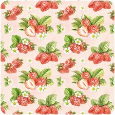 New Ideas Fruit Pattern Wallpaper Behance Strawberry Pictures, Strawberry Art, Food Patterns, Fabric Patterns, Print Patterns, Watercolor Pattern, Watercolor Illustration, Scrapbook Paper, Scrapbooking
