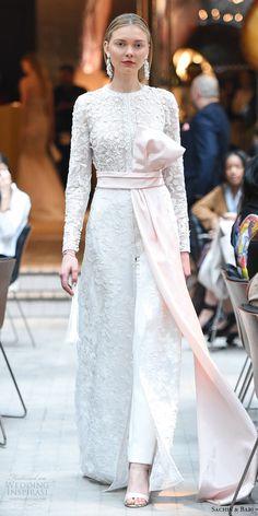 sachin babi spring 2018 bridal long sleeves embroidered bridal coat pants pink sash (13) mv -- #wedding #bridal #weddingdress #romantic