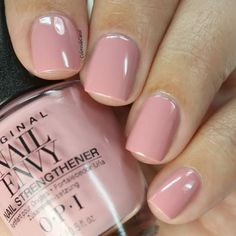 OPI Nail Envy, Strength + Color in Hawaiian Orchid Opi Nail Envy, Opi Nails, Opi Nail Polish Colors, Shellac, Cute Nails, Pretty Nails, Pretty Nail Colors, Neutral Nails, Neutral Colors