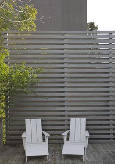 Potrero HIll home by Nilus Designs with wood slatted fence/ This would work if you have neighbors who are really close, looking down on your patio area.