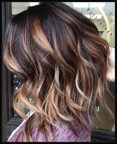 Trendy Hair Highlights : Hair Color Trends 2017/ 2018 - Highlights : Dark brown with caramel ... - GlamFashion | Leading Fashion inspiration Magazine