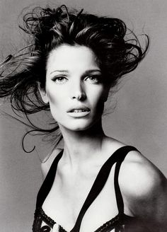 Stephanie Seymour photographed by Richard Avedon for Versace F/W Catalog from 1993/1994