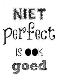 PK28 | Quote kaart Niet perfect is ook goed | Quotekaarten | Dotties Design