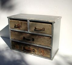 Vintage Inspired Wood Cabinet / 4 drawers / Vintage by urgestudio