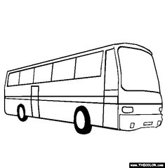 100 Free Vehicle Coloring Pages Color In This Picture Of A Bus And Others