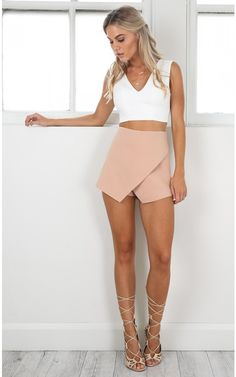 Crossfire skort in nude | SHOWPO Fashion Online Shopping