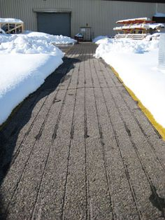 Heated tire tracks allow use of steep driveway during storms snow retrofit tuff cable into your concrete or asphalt surface for a heated driveway without tearing anything solutioingenieria Choice Image