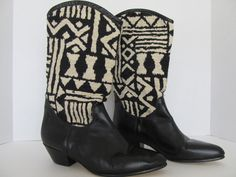 Rare Vintage Seychelle Boots Western Southwest by ThreeHermanas, $125.00