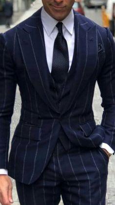 Latest Mens Fashion, Mens Fashion Suits, Mens Suits, Blue Pinstripe Suit, Windowpane Suit, Modern Suits, Latest Clothes For Men, Designer Suits For Men, Bespoke Suit