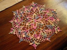 Ravelry: Cosmos Doily pattern by American Thread Company Crochet Doily Patterns, Thread Crochet, Filet Crochet, Crochet Designs, Crochet Doilies, Crochet Yarn, Crochet Flowers, Crochet Stitches, Doily Wedding