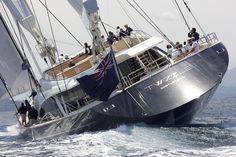 The magnificent superyacht Twizzle, built by Royal Huisman in the Netherlands, measures a whopping 57.5 meters from tip to end. Designe...