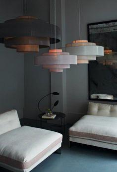 24th Street - Contemporary layered pendant lights for living room - ochre design