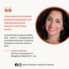 Edit Your Life podcast on navigating holiday grief   joy Minimalist Parenting, Leadership Conference, Your Life, Family Life, Parenting Hacks, Grief, Feel Better, Life Lessons, Joy