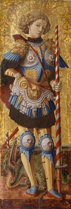 Carlo Crivelli - San Giorgio, pannello ordine principale Polittico del 1472 - 1472 - New York, Metropolitan Museum of Art