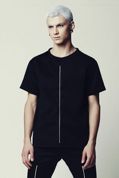 Mens Shirt Mens Black Shirt Mens Short Sleeve by EliranNargassi