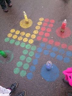 Playground painting ideas - Aluno On Playground Painting, Playground Games, Outdoor Playground, Games For Kids, Diy For Kids, Activities For Kids, Crafts For Kids, Fun Games, Babysitting Activities