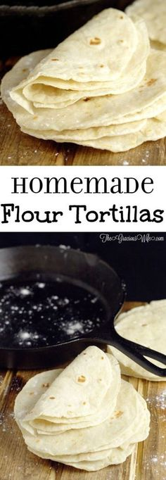 Easy Homemade Flour Tortillas Recipe - frugal and way more delicious than store-bought tortillas. | cooking tips
