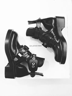 balenciaga cutout booties