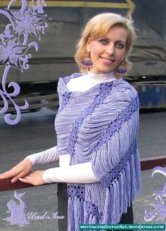 Häkeln Schal Tuch Stola / crochet shawl
