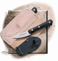 AG Russell Woodswalker Knife: with back pocket leather sheath