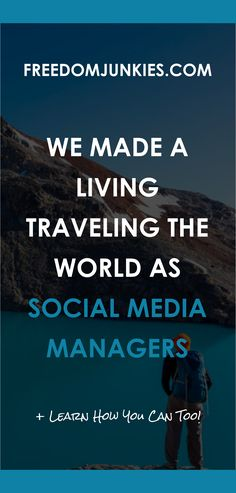 A SMM looks after the Social Media accounts of companies who do not have the time or the know how to look after it themselves. So they will pay someone very good money to take care of this task for them because they understand the importance of a Social Media presence. For the past 4 years, we have made our living while traveling the world as Social Media Managers. In our Social Media Management course, we are going to teach you how we did every bit of it.