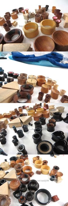 Other Wholesale Earrings 51015: Us Seller- 50 Pairs Sets Organic Natural Wood Ear Gauges Ear Plugs Body Piercing -> BUY IT NOW ONLY: $68.0 on eBay!