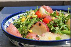 Grilled Arugula Potato Salad from yesiwantcake.com.  Thanks @Katie Unger!