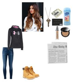 """""""writing"""" by writingismydreams ❤ liked on Polyvore featuring beauty, Suave, 7 For All Mankind, The Giving Keys, M-Clip, Bobbi Brown Cosmetics, Urban Decay, Timberland and Under Armour"""