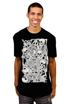 Stacked T-shirt by moutchy from Design By Humans  #skullls #bones