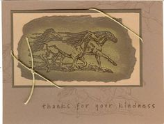 Metallic STAMPIN' UP!  Equestrian Dream (retired set)