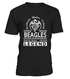 T Shirt BEAGLES Original Irish Legend Name  front