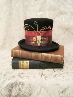 Mini top hat Kimberly steampunk burlesque gothic Lolita by tanya2s, $65.00