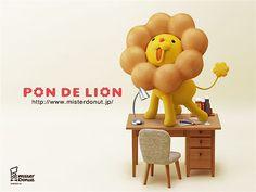 Pon de Lion at work