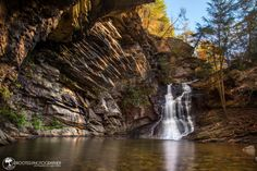 Day trip from Charlotte - Lower Cascade Falls hike and swimming hole.  Near Mt. Airy