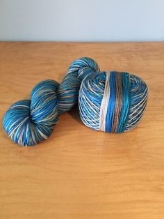 "Hand-Dyed Self-Striping Sock Yarn ""Driftwood"" Merino Wool Nylon Variegated 4 Ply Fingering Weight Yarn JuliannasFibre"