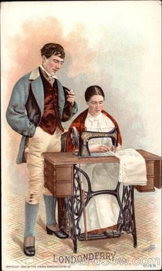 "Singer Sewing Machine trade card ""Londonderry"" c. 1895"