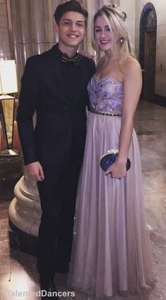 Chloe Lukasiak and her Prince Charming getting ready for Disney's Gold and Silver Ball